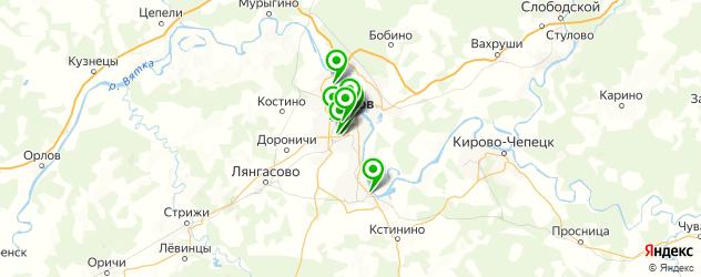 стоматологические поликлиники на карте Кирова