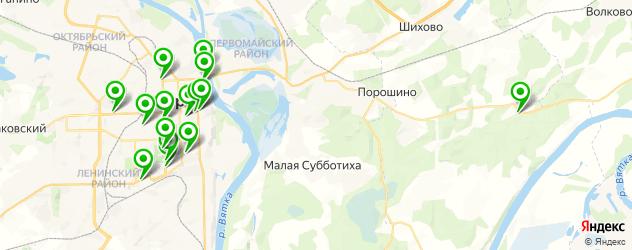 постные меню в ресторанах на карте Кирова