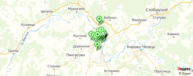 живая музыка на карте Кирова