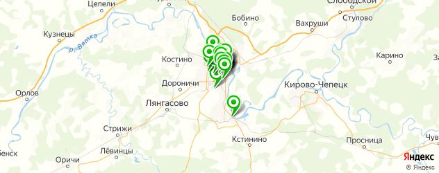 салоны красоты на карте Кирова