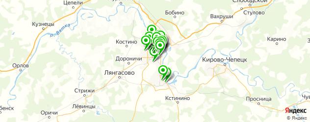 парикмахерские на карте Кирова