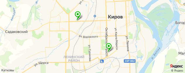 вегетарианские рестораны на карте Кирова