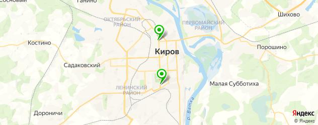 итальянские рестораны на карте Кирова