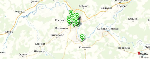кожаные ателье на карте Кирова