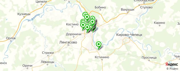 меховые ателье на карте Кирова