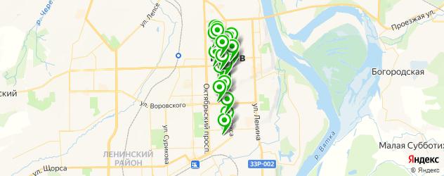 типографии на карте улицы Карла Либкнехта