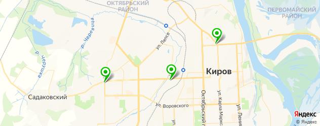 парковки на карте Кирова