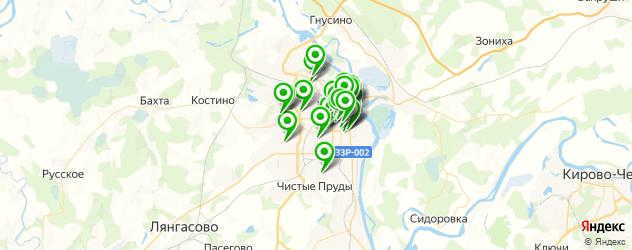 массажные салоны на карте Кирова