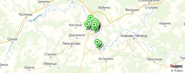 покрытие ногтей лаком на карте Кирова