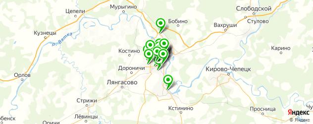 Доставка еды на карте Кирова
