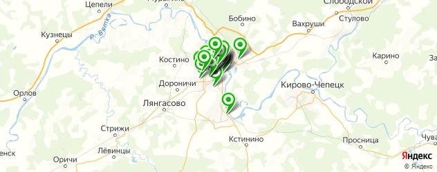 Доставка пиццы на карте Кирова