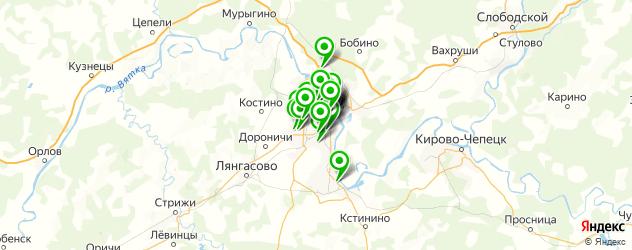 службы доставки еды на карте Кирова