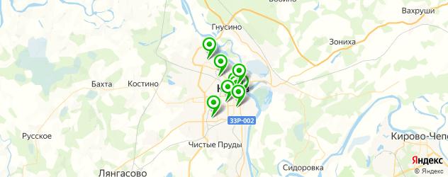 театры на карте Кирова