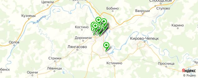 Доставка суши на карте Кирова