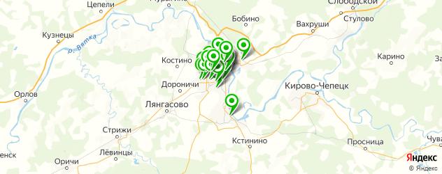 Доставка роллов на карте Кирова