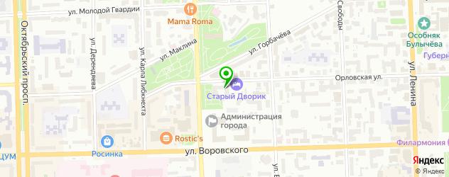 велнесы-клубы на карте Кирова