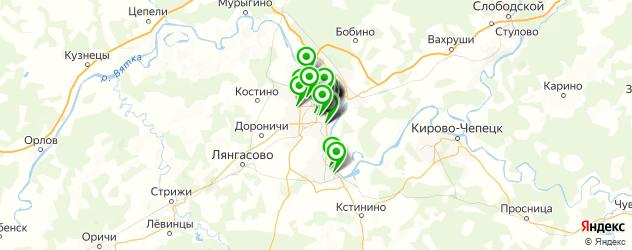 музеи на карте Кирова