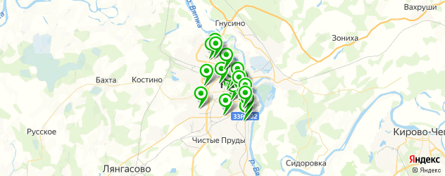 стоматологические клиники на карте Кирова