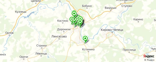 компьютерные помощи на карте Кирова