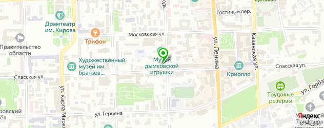 украинские кафе на карте Кирова