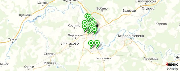 дома быта на карте Кирова