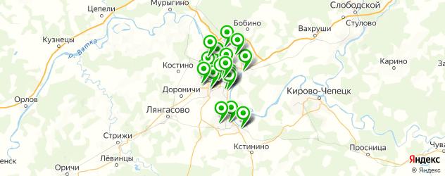 детские сады на карте Кирова