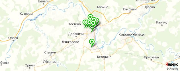 караоке-клубы на карте Кирова