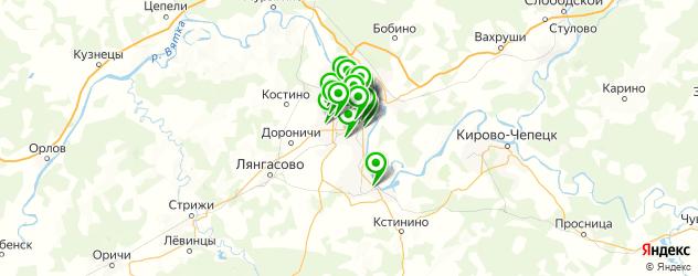 пирсинг носа на карте Кирова