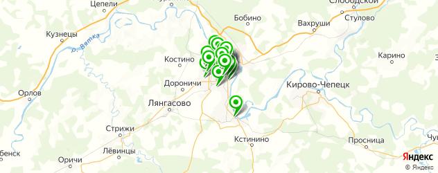 пирсинг ушей на карте Кирова