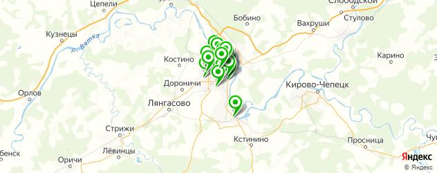 пирсинги салон на карте Кирова