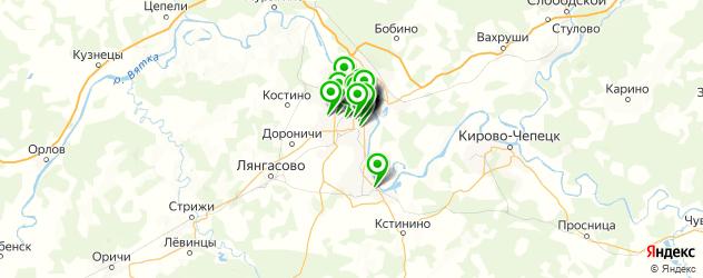 студии маникюра на карте Кирова