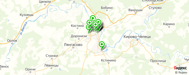 депиляция на карте Кирова