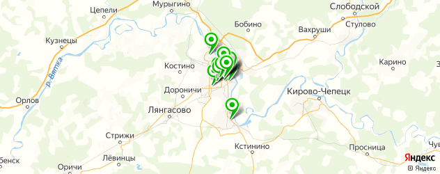 курсы на карте Кирова