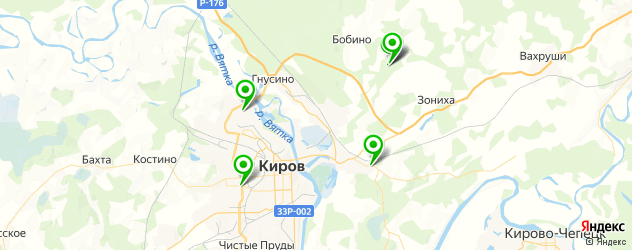 санатории на карте Кирова