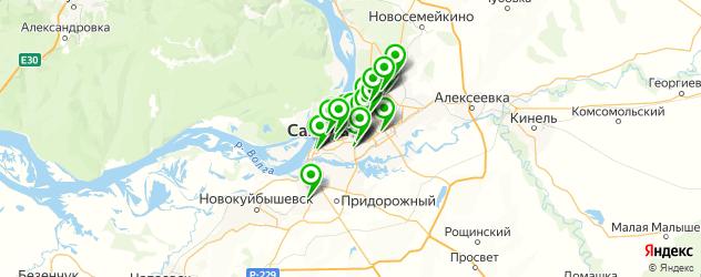 кафе с танцполом на карте Самары