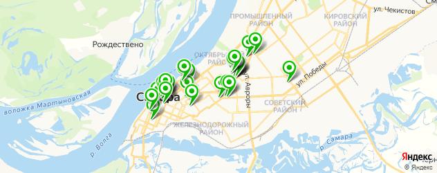 ВУЗы на карте Самары