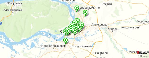 пирсинг ушей на карте Самары