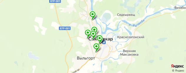 авторазборки на карте Сыктывкара