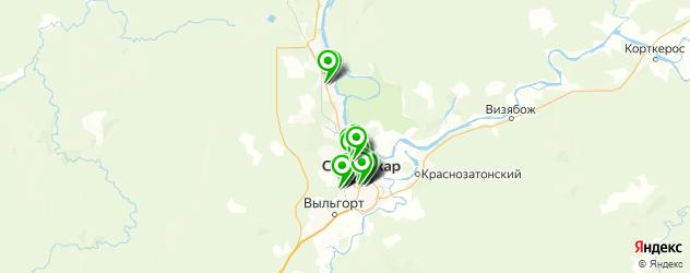 Доставка еды на карте Сыктывкара