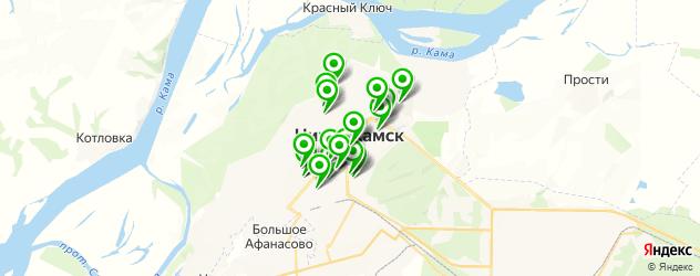 рестораны европейской кухни на карте Нижнекамска
