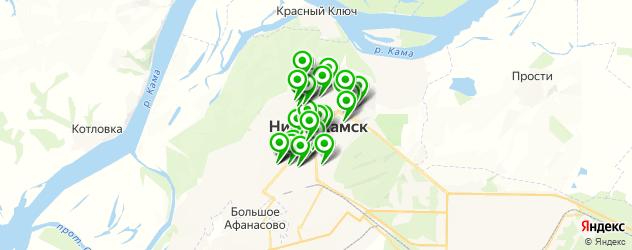 Еда на карте Нижнекамска