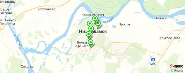 автошколы на карте Нижнекамска
