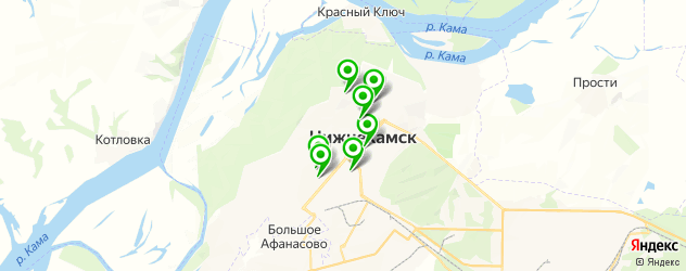 ночные клубы на карте Нижнекамска