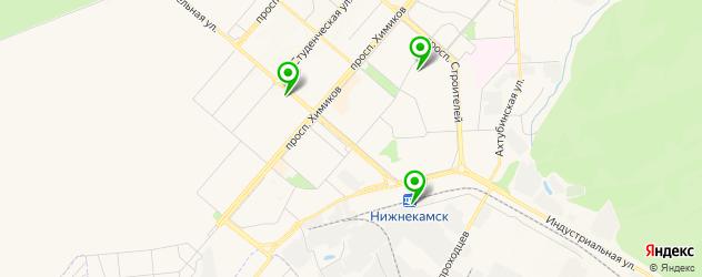 караоке-клубы на карте Нижнекамска