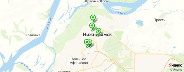 букмекерские конторы на карте Нижнекамска