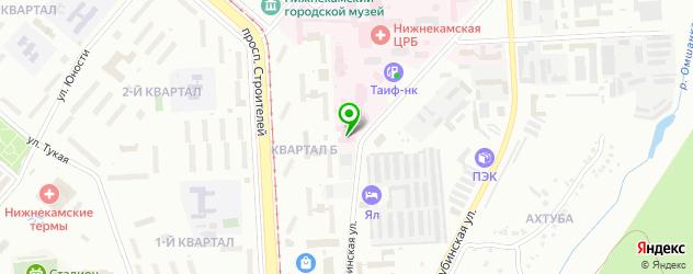 стоматологические поликлиники на карте Нижнекамска