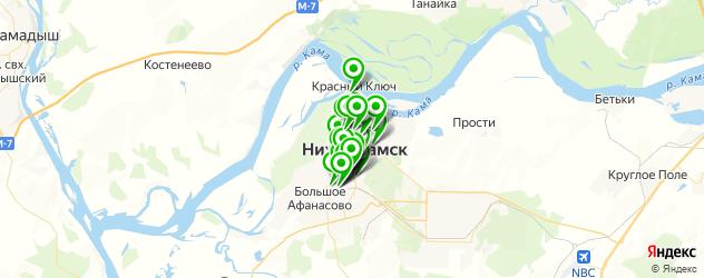 сауны с бассейном на карте Нижнекамска