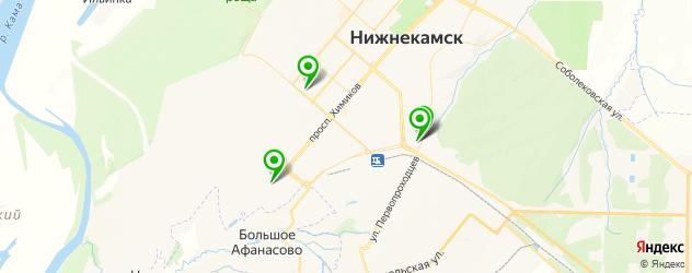 магазины автозвука на карте Нижнекамска