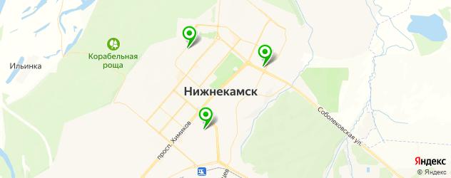 бары с танцполом на карте Нижнекамска