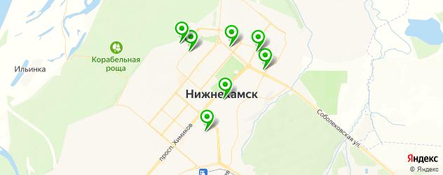 бары на карте Нижнекамска